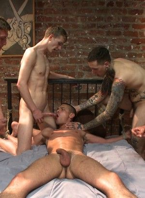 Austin Chandler gets tied up, beaten and gangbanged