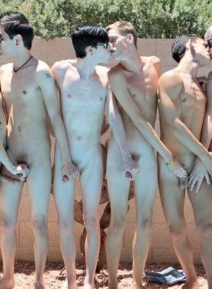Dick hungry horny twinks eating meat sticks