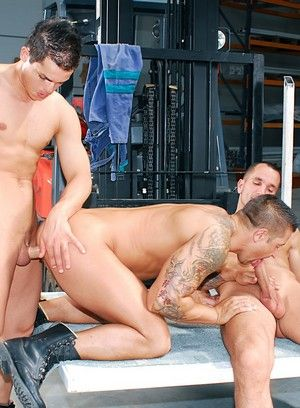 Claudio Antonelli, Rogerio Matteo and David Cain fuck each other