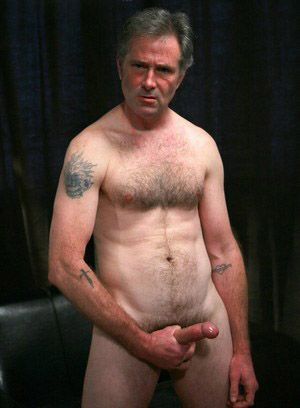 Dick Stahber strokes his hard cock