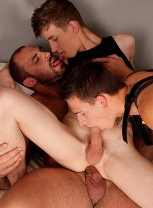 Lucas Tree gets gang banged by Dick Casey and Zack Hood