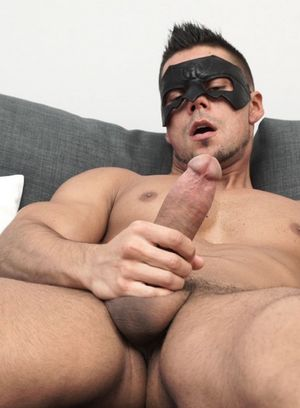 Angelo Godshack strokes his big dick