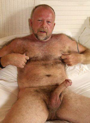 Jim Scott shows off his fat cock