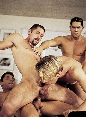 Gage Michaels, Jeremy Steel, Blake Harper and Alec Martinez fuck each other