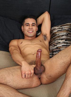Adam Gomez strokes his hard dick