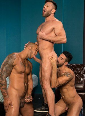 Bruce Beckham, Jason Vario and Mick Stallone fuck each other