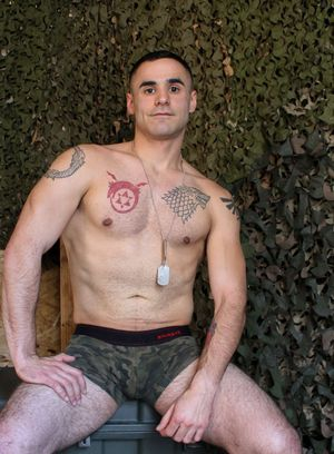 Naked men duty active military
