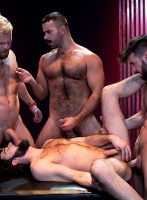 Woody Fox, Teddy Torres, Beaux Banks and Riley Mitchell fucks Tegan Zayne