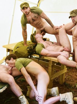 Zach Country, Damien Stone, Vadim Black, Brandon Evans and Blaze Austin fuck like crazy