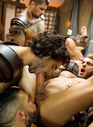 William Seed, Diego Sans, Francois Sagat, Ryan Bones and JJ Knight suck and fuck