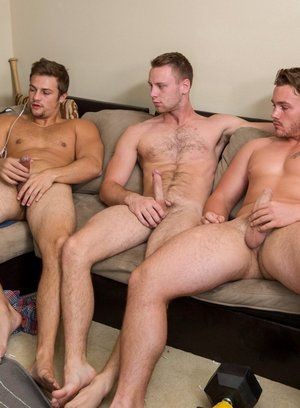 Trevor Long, Brandon Evans and Charlie fuck each other