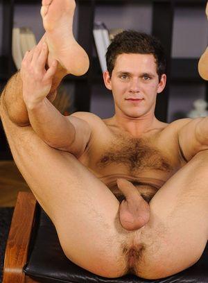 Ivan Baranek plays with his cock