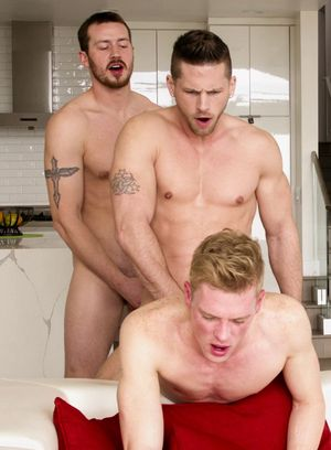 Mark Long, Roman Todd and Ty Thomas fuck each other