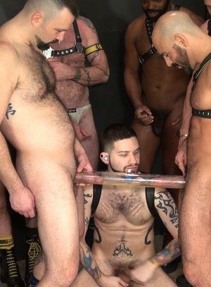 Jake Wetmore, Jon Shield, Adam Russo, Cutler X, Boy Fillups, Michael Phoenix, Leather, Spitting, Group Sex