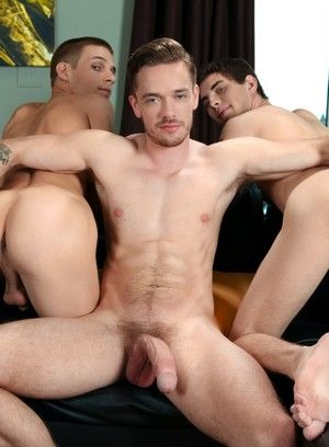 anal sex blowjob lucas knight muscle men pornstar rimming sam truitt threesome trent ferris twink