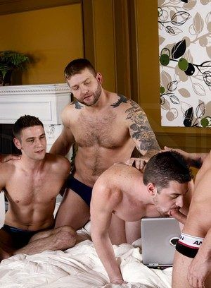 Bobby Clark, Colby Jansen, Andrew Stark, Duncan Black and Rod Daily fuck each other