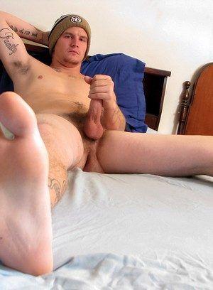 Lex rubs his meat