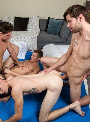 Paul Canon, Dalton Briggs, Ty Thomas and Jackson Traynor fuck each other
