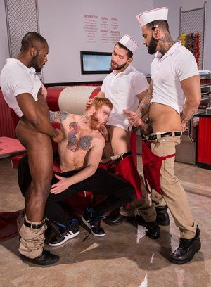 Noah Donovan, Bennett Anthony, Rikk York and Lucas Allen fuck like crazy