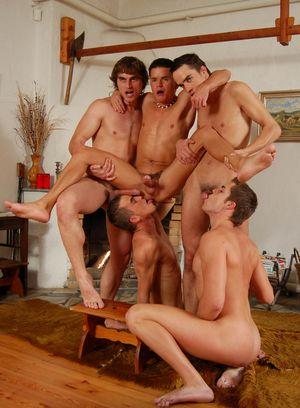 Bukkake Turns Into An orgy. 12:16.