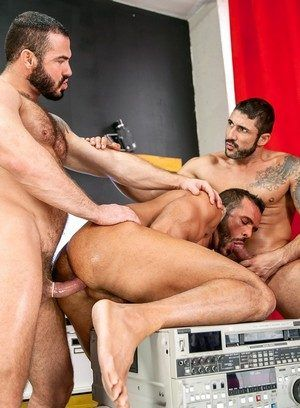 Denis Vega, Max Toro and Jessy Ares having anal sex