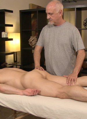 Massage-room cock rubbing