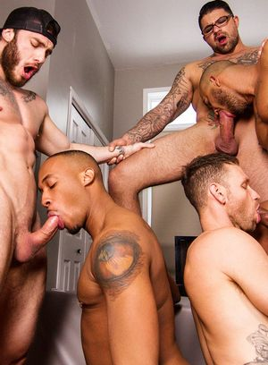 William Seed, Ryan Bones, Kit Cohen, Jason Vario and Trent King suck and fuck