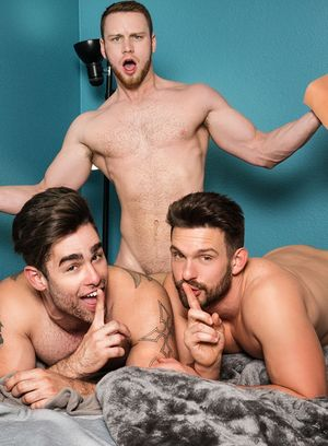 Brandon Evans fucks Casey Jacks and Lucas Leon