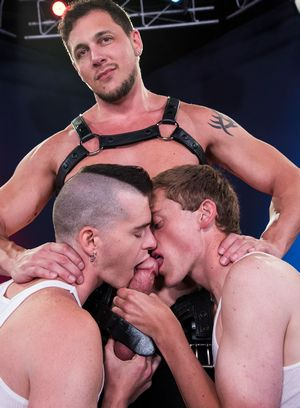 Joey D brutally fucks Axel Abysse and Colin Bryant
