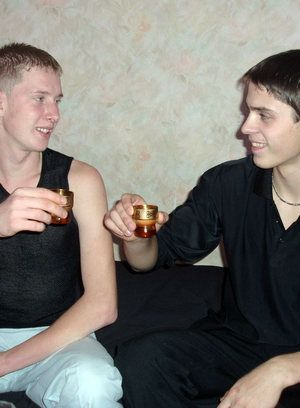blonde drink oral twink