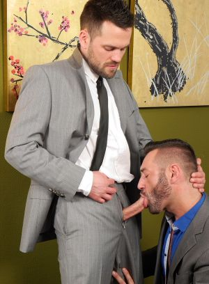 Wolf Wagner, Michael Selvaggio, German, Office, Blow job, Bear, Hairy, Rimming