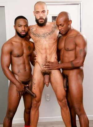 Bam Bam, Osiris Blade, Dylan Henri, Anal Sex, Black, Huge Dick, Muscular, Threesome