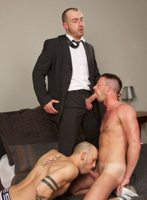 Thierry Lamasse, Max Duran and Karl Stukker fuck each other