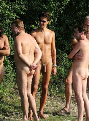 Salacious hunks getting nude