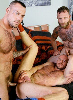 Sean Duran, Matt Stevens and Derek Parker having anal sex