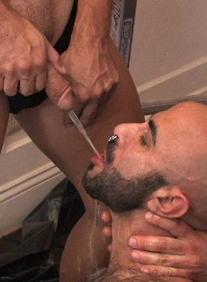 Boyhous Takes Piss and Cock