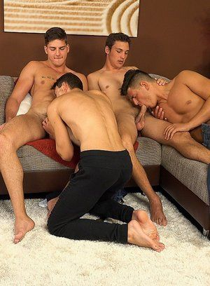 Honza Onus, Romi Zuska, Martin Polnak and Martin Gajda having anal sex