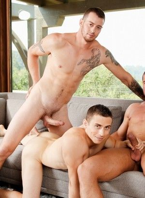 Mark Long, Dante Martin, Brad A, Amateur, Anal Sex, Big Dick, Condom, Threesome