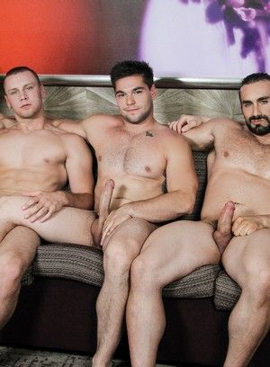 Naughty gay hunks hardening meaty cocks