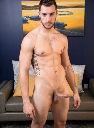 Carter Woods plays with his hard dick