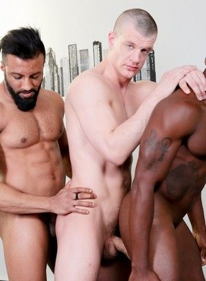 Osiris Blade, Caleb King and Damian Flexxx fuck each other