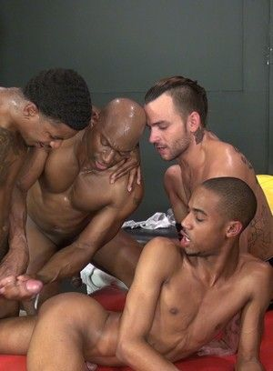 Champ Robinson, Lukas Cipriani, Knockout, Tigger Redd, Interracial, Group, Black, Rimming, Tattoos