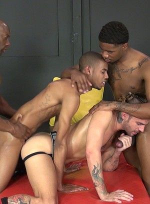 Sexy ebony hunks in sultry sucking ang foreplaying thrill