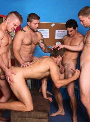 Colby Jansen, Jimmy Johnson, Liam Magnuson and Jack King fucks Brandon Lewis