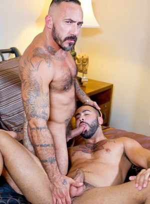 Alessio Romero, Rikk York, Anal Sex, Bear, Beefy, Facial Hair, Mature, Tattoo, Piercing