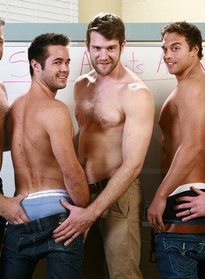 Trevor Knight, Colby Keller, Colby Jansen, Rocco Reed and Mike De Marko fuck like crazy
