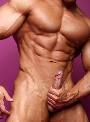 Macho Nacho shows off his muscular body