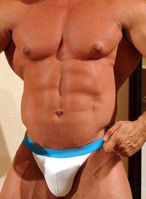 Eddie Camacho shows off his muscular body