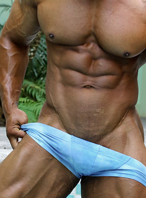 Rico Cane shows off his muscular body