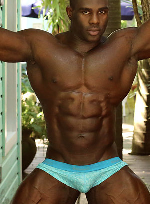 Aden Taylor shows off his muscular body